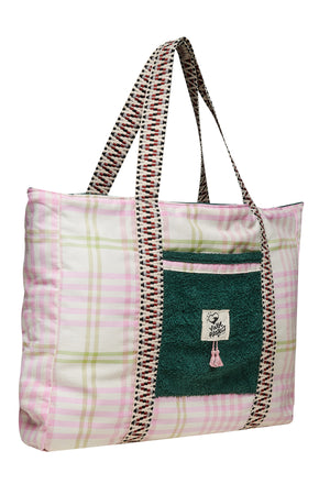 Cycladic in Pink Beach Bag