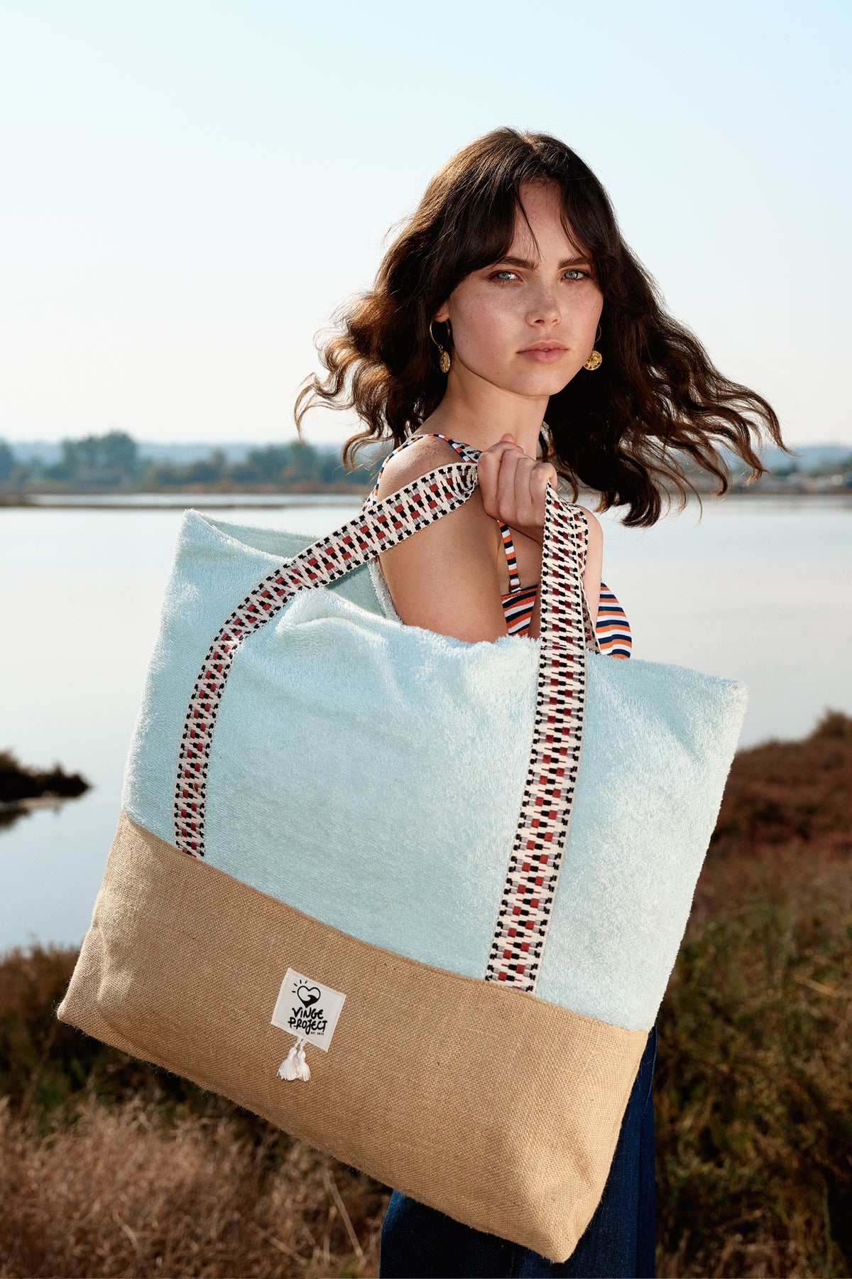 Pistachio - Oversized Beach Bag