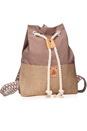 Khaki Hermosa Canvas backpack vingeproject