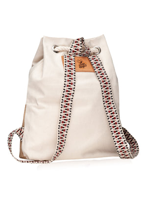 Beige Hermosa Canvas backpack vingeproject