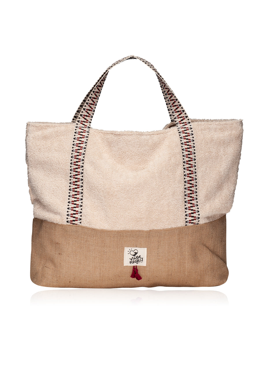 Crema Oversized beach bag vingeproject
