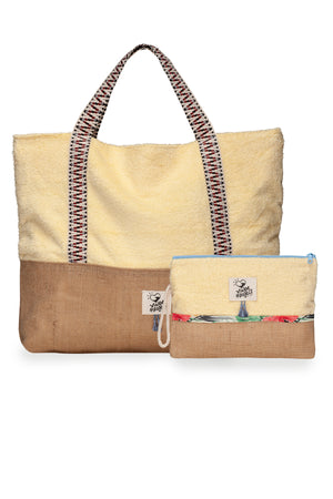 Banana Split Beach Bag & Waterproof Clutch