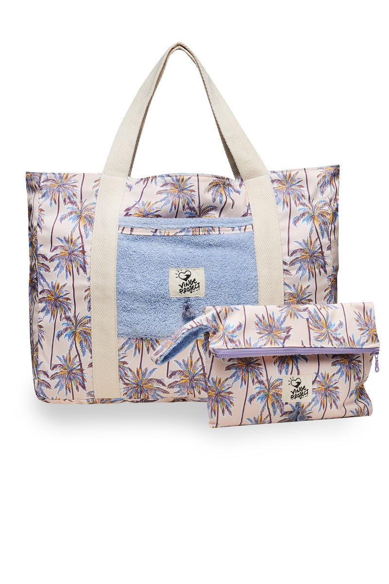 Beach Bag & Big Clutch Bag Set