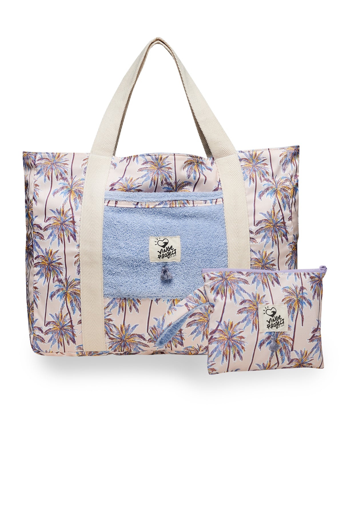 Beach Bag & Small Clutch Bag Set