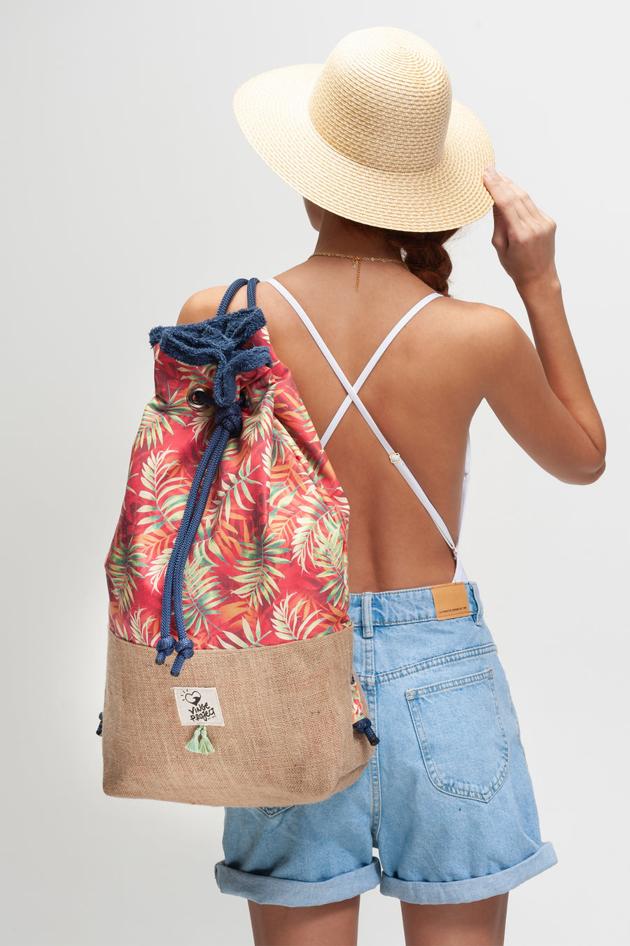 Seychelles Tropical beach bag vingeproject