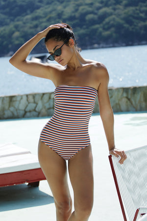 """Dione"" Strapless One-Piece"