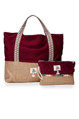 Ruby Beach Bag & Waterproof Clutch