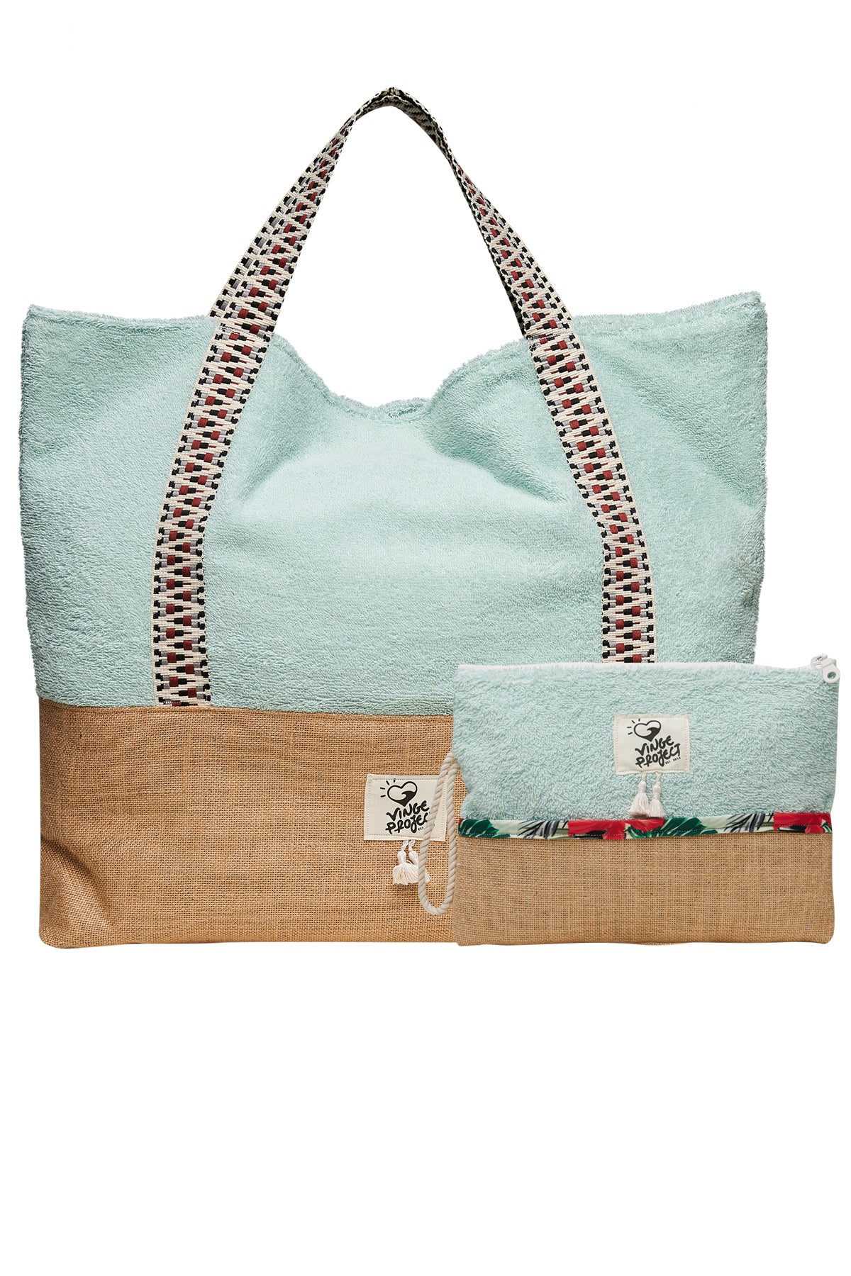 Sailor Beach Bag & Waterproof Clutch