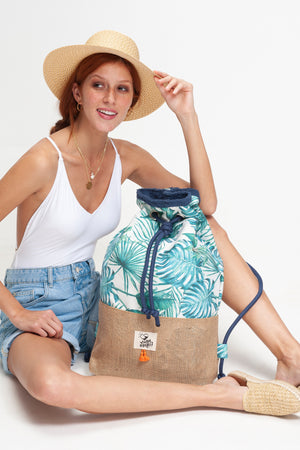 Caribbean Tropical beach bag vingeproject