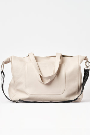 """Athena"" Tote Bag in Kashmere Nude"