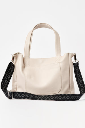 """Athena"" Medium Tote Bag in Kashmere Nude"