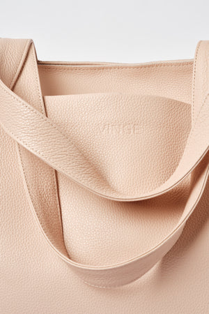 """Athena"" Tote Bag in Salmon Peach"