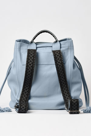 """Callie"" Backpack in Powder Blue"