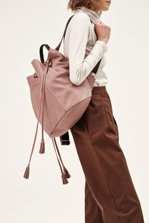 """Callie"" Backpack in Dusty Rose"