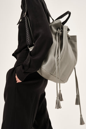 """Callie"" Backpack in French Grey"