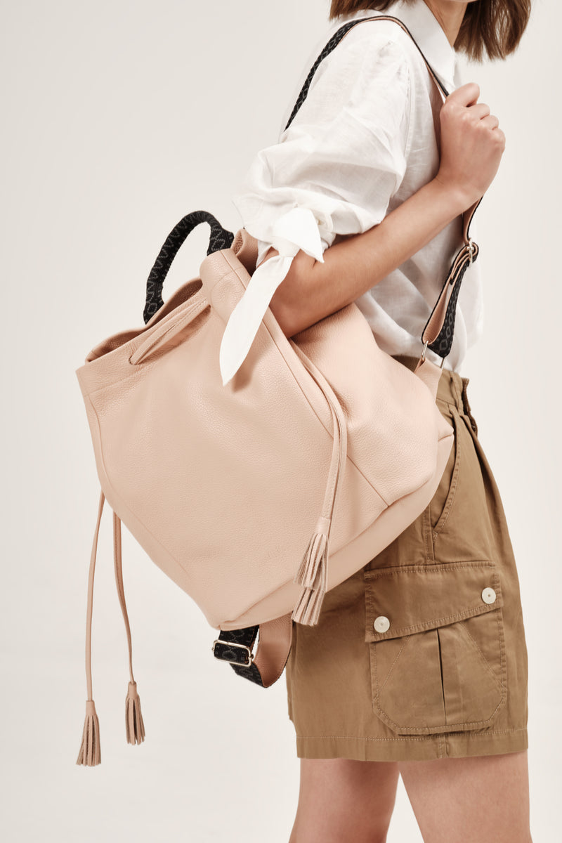 """Callie"" Backpack in Salmon Peach"