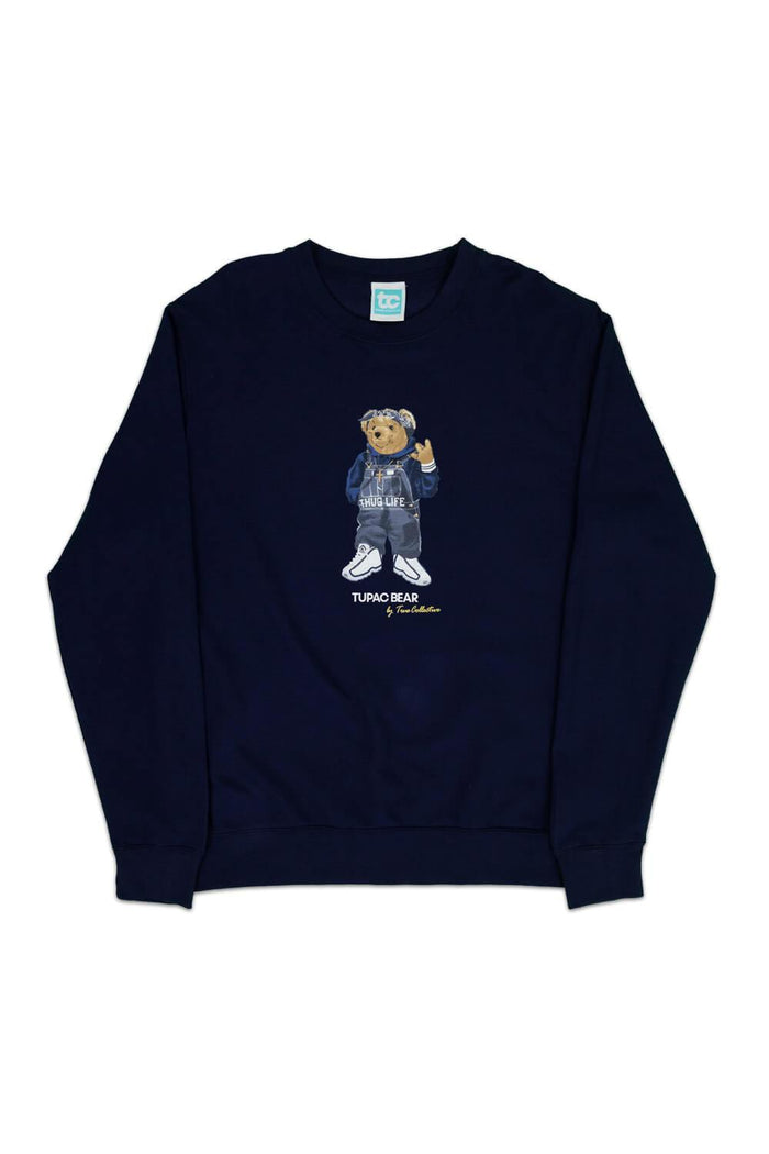 Tupac Bear Sweatshirt Navy
