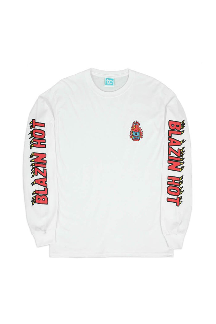 Blazin Hot Long Sleeve T-shirt White