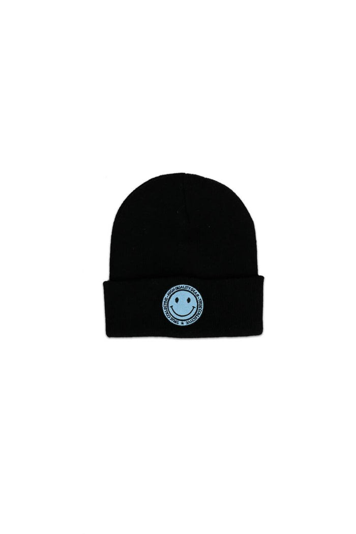 Smiley Beanie Black/Blue