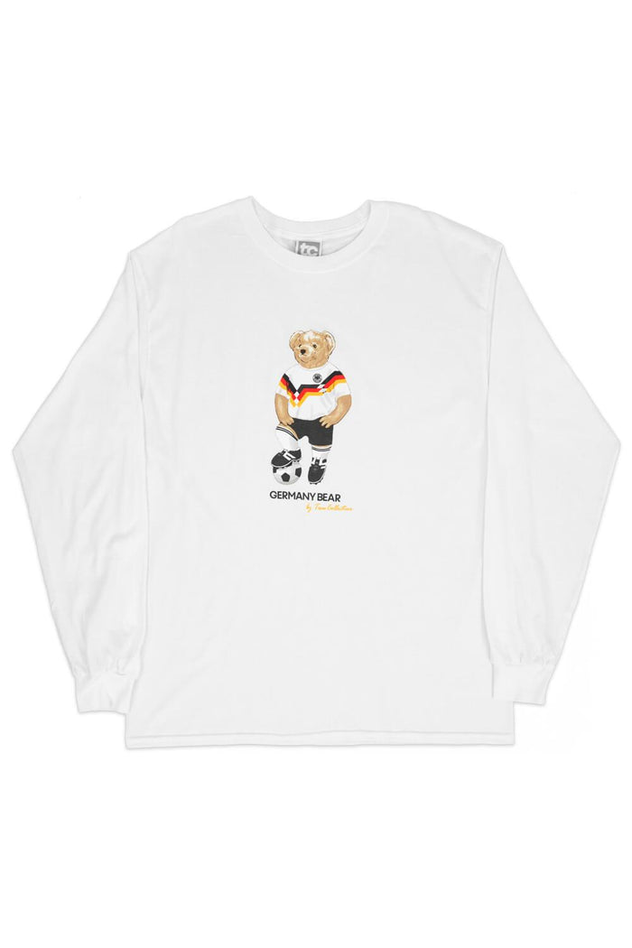 Germany Bear Long Sleeve T-shirt White
