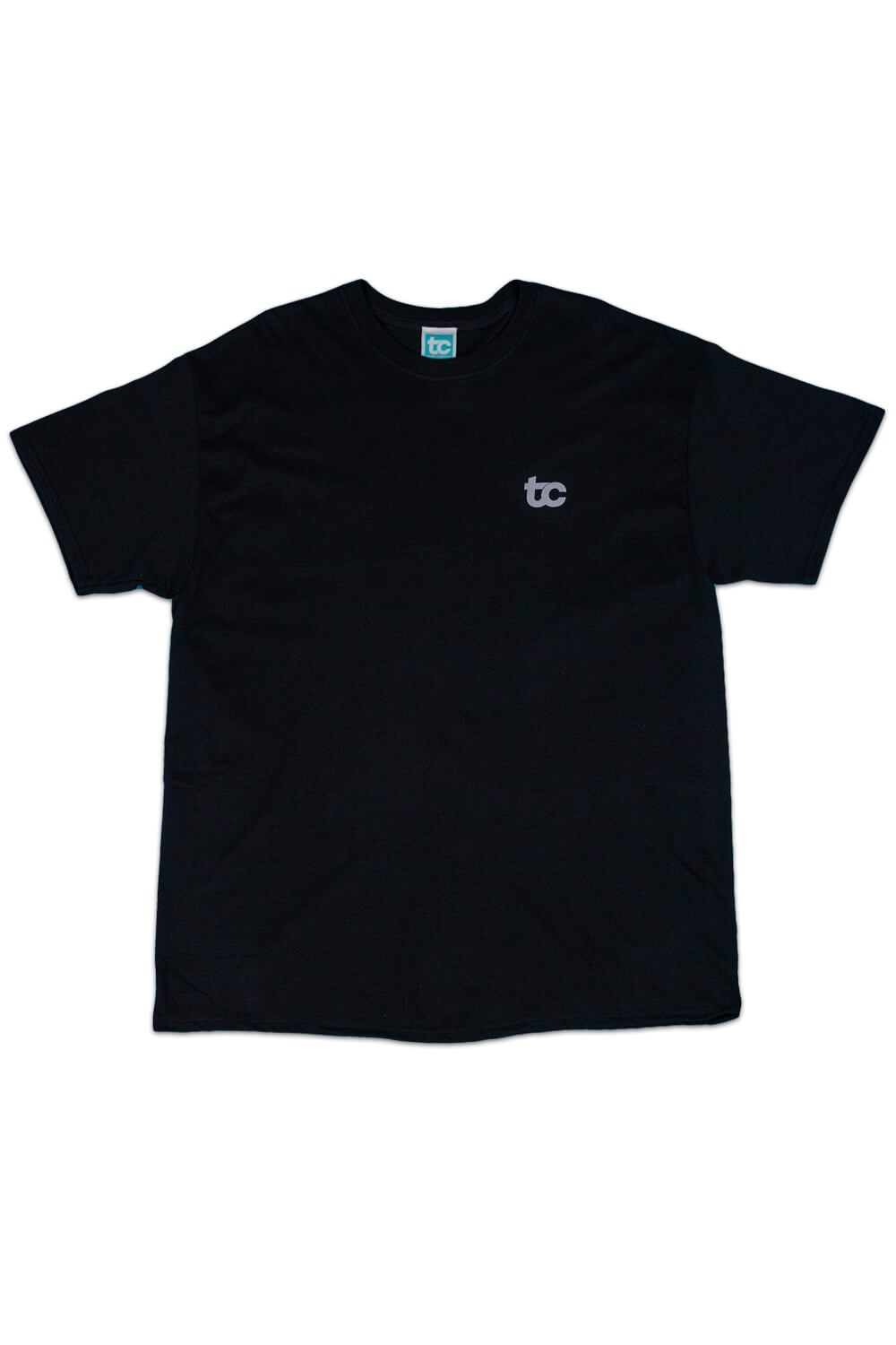 Reflective Smiley T-shirt Black