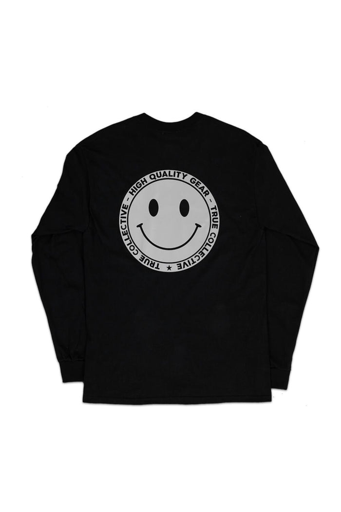 Reflective Smiley Long Sleeve T-shirt Black