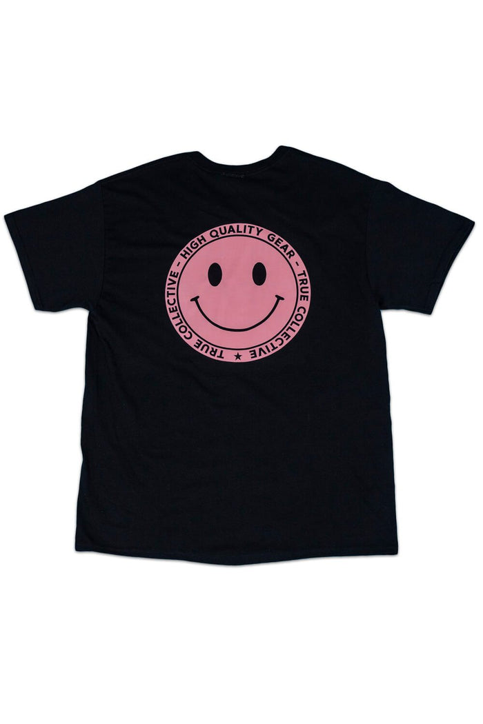 Smiley T-shirt Pink/Black