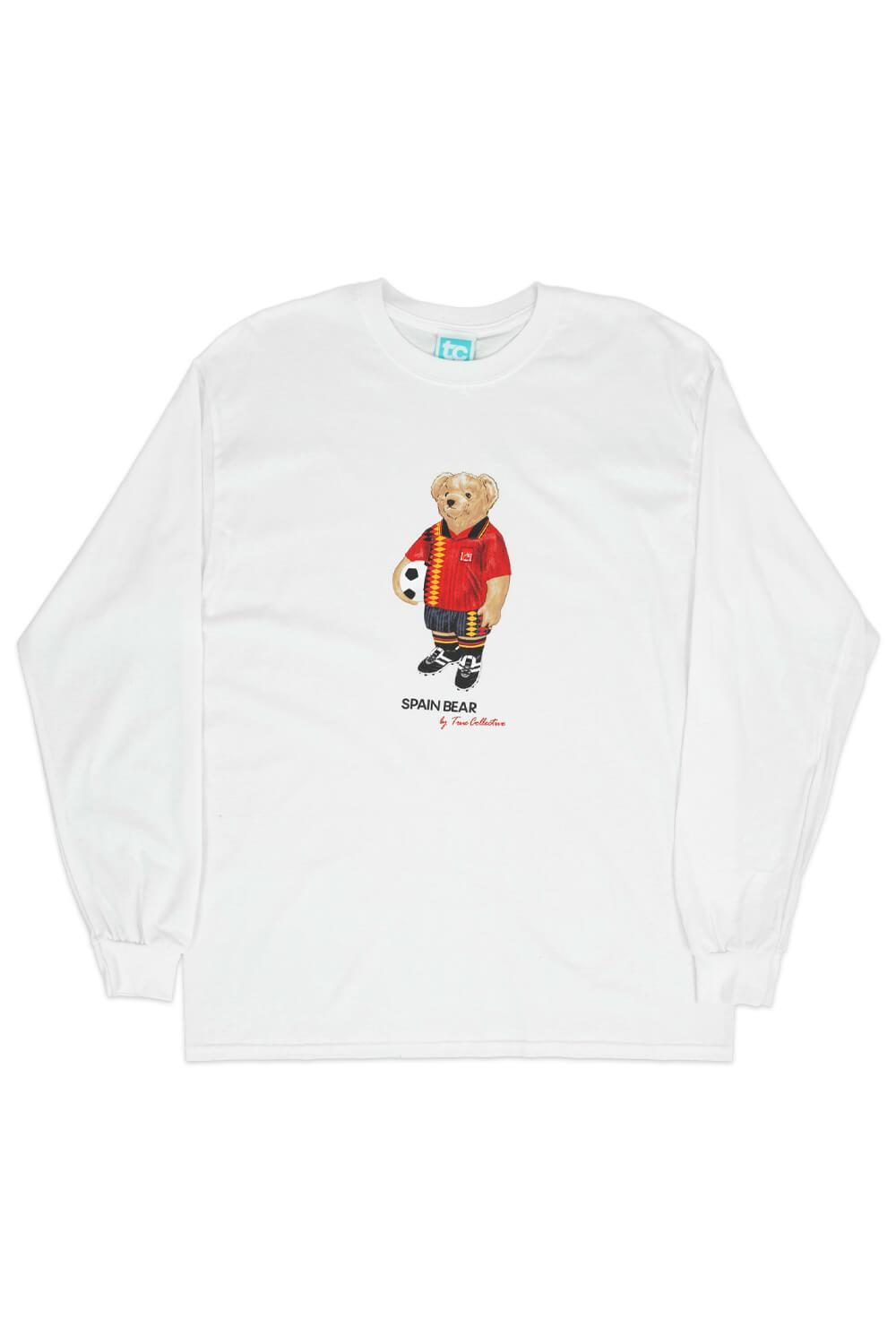 Spain Bear Long Sleeve T-shirt White