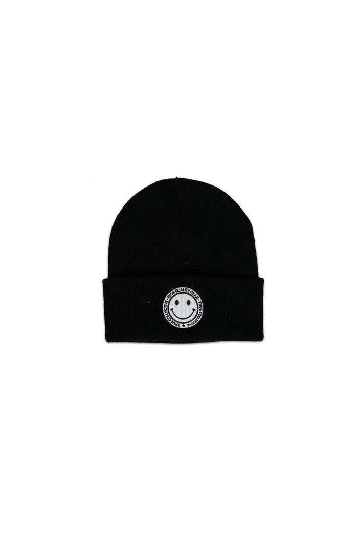 Smiley Beanie Black/White
