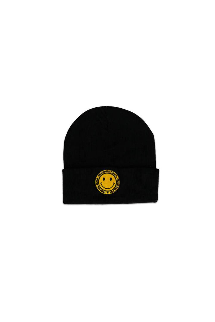 Smiley Beanie Black/Yellow
