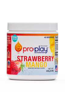 Pro:Play with Magnesium + Zero Sugar STRAWBERRY MANGO (Tub 40 servings)