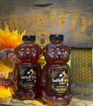 SweetNes Raw Unfiltered Local Texas Honey 32oz Squeezable Bear (2 Bottle Deal)