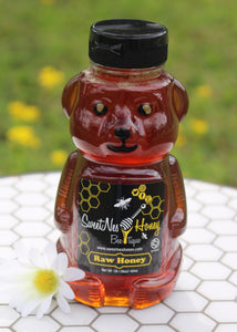 SweetNes Raw Unfiltered Local Honey 16oz Squeezable Bear