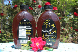 SweetNes Honey Unflitered raw 32oz (2lb) Squeezable Oval (2 Bottle Deal)