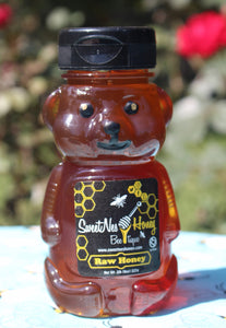 SweetNes Raw Unfiltered Local Honey 8oz Squeezable Bear