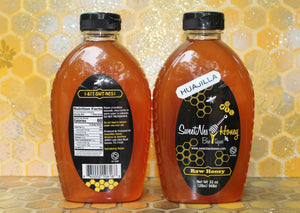 SweetNes Raw Honey 32oz (2lb) Squeezable Oval - HUAJILLA HONEY - LOCAL SOUTH TX (2 Bottle Deal)