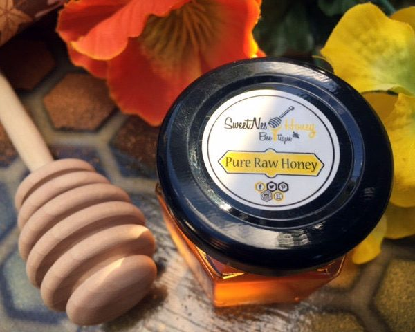 2.0oz Sweetnes Raw Unfiltered Local Honey Glass