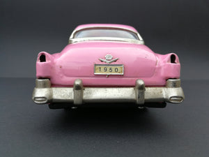 Vintage 1950 Cadillac Sedan MF330 Pink. Vintage toys. Rear view.