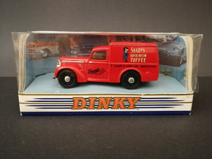 The Dinky Collection 1948 Commer 8 CWT van, red, comes with box, side view.