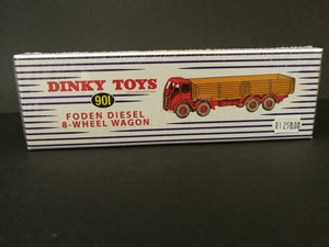 Dinky Toys 901 Foden Diesel 8 wheel wagon, comes with box, have never been opened, color may differ from illustration on box.