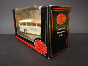 Exclusive First Editions Cavalier Coach, scale 1:76, color grey and red, side view of box