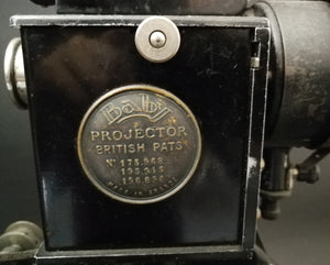 Pathescope Baby Projector  view of name plate