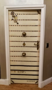 "Steampunk ""Morse Kode"" door front view"
