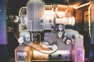 Familie Films projector light close up view