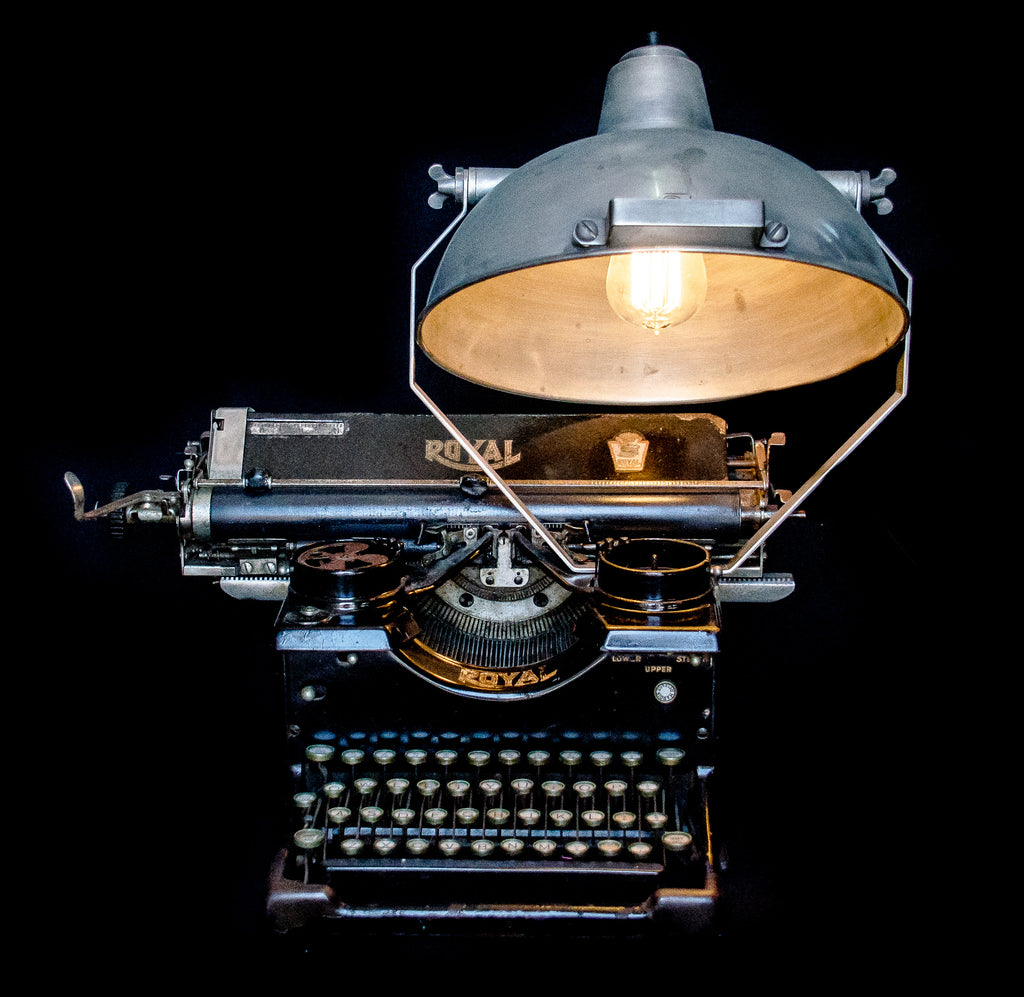 Royal typewriter lamp front view