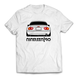Nineteen90 MX5 Roadster Life T-Shirt White