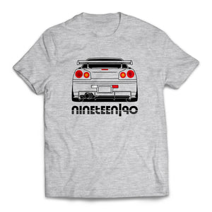 Nineteen90 R34 JDM Legends T-Shirt Heather Grey