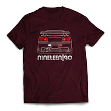 Nineteen90 R34 JDM Legends T-Shirt Maroon