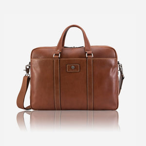 3664 Leather Laptop Briefcase (Colt) - Classic Bags