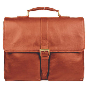 Aberdeen Leather Briefcase (Black, Brown or Tan) - Classic Bags